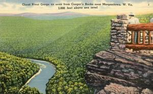 WV - Cheat River Gorge from Cooper's Rocks near Morgantown