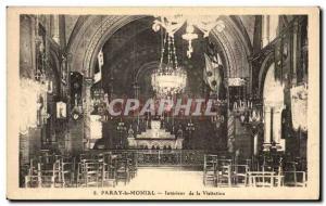 Old Postcard Paray le Monial Interior of visitation