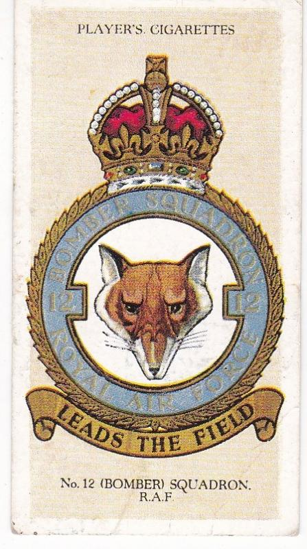 Cigarette Card Player's R.A.F. Badges with motto No 6