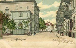 sweden, HELSINGBORG, Prestgatan med Teatern, Theatre (1905) Postcard