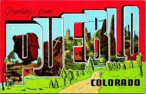Pueblo Co Colorado Voeux De Pueblo Grand Lettre Voeux Unp Kropp