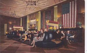 Illinois Chicago The Bismarck Hotel Lobby Curteich