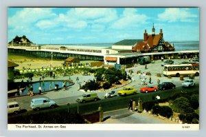 St Annes On Sea United Kingdom,  The Pierhead, Chrome Postcard