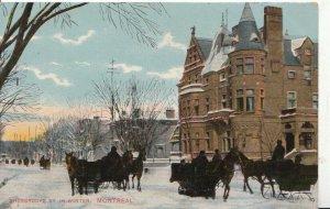 Canada Postcard - Sherbrooke Street in Winter - Montreal - Ref 5566A