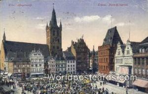 Treves Germany, Deutschland Postcard Place du Marche Treves Place du Marche