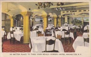 New York Rochester Dining Room Power's Hotel