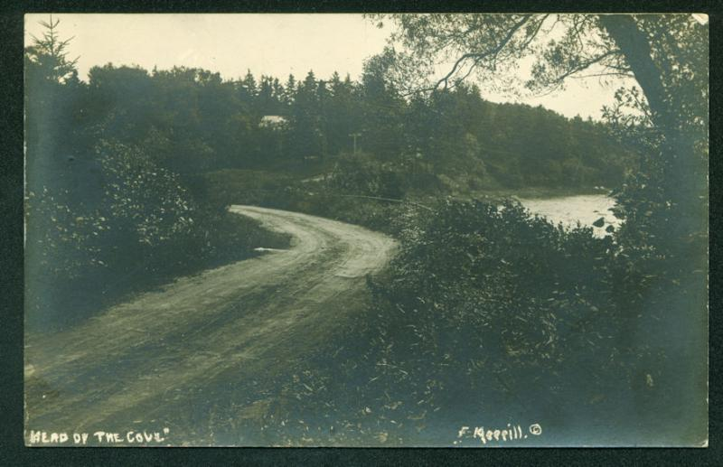 Head of the CHRISTMAS COVE MAINE Coast Scene RPPC Real Photo Postcard