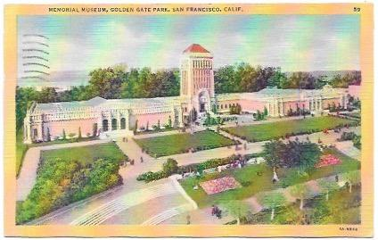Memorial Museum. Golden Gate Park, San Francisco, Calif. 1946 Stamp #804