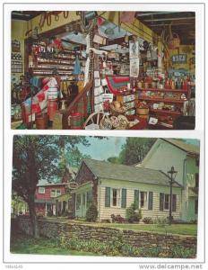 Lahaska PA Peddlers Village Bucks County Hentown Country Store 2 Vntg Postcards