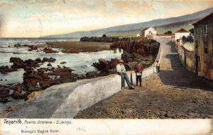 Spain Tenerife Puerto Orotava S. Jelmo Nobrega's English Bazar Postcard