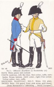 Saxon Cavalry NCO Kurfurst Kochritzky Regiment Napoleonic War PB Postcard