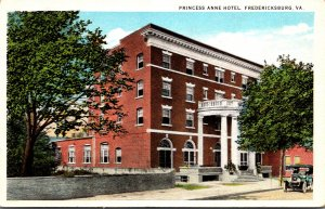 Virginia Fredericksburg Princess Anne Hotel Curteich