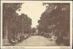 romania, FOCSANI, Gradina Publica, Public Park (1917)