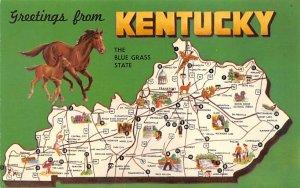 Maps Kentucky USA Unused