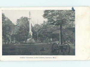 Pre-1907 MILITARY SCENE Lawrence Massachusetts MA AF9002
