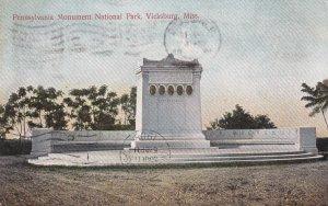 VICKSBURG, Mississippi, PU-1908; Pennsylvania Monument National Park