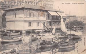 ALGER ALGERIA AFRICA le SPORT NAUTIQUE PHOTO POSTCARD 1910 PSTMK TUFTS COLLEGE