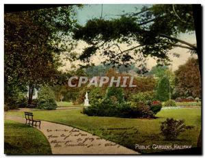 Old Postcard Halifax Public Gardens