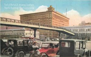Autos 1920s Market Street Pacific Building SAN FRANCISCO CALIFORNIA 4609
