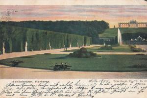 AK 1899 Wien VII Schonbrunn Parterre Austria via Simand cancel Arad Transylvania