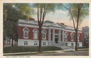 BRISTOL, Connecticut, PU-1918; Public Library