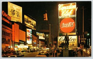New York City~Times Square Neon Night Lights~2001 A Space Odyssey~Playland~1968