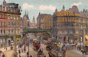 Ludgate Circus, London, England, Great Britain, Early Postcard, Unused