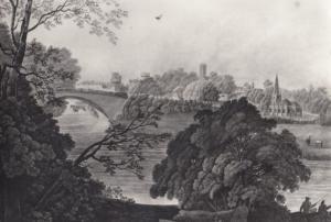 Coventry Warwick Bridge in 1700s Era Painting Art Gallery Real Photo Postcard