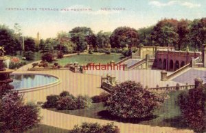 CENTRAL PARK TERRACE AND FOUNTAIN, NEW YORK CITY, NY Cory Post Card Co.