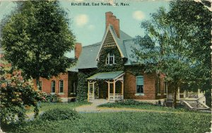 Postcard Revell Hall, East Northfield, MA Posted 1914