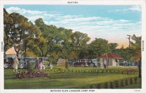 New York Watkins Glen Lakeside Camp Park Curteich