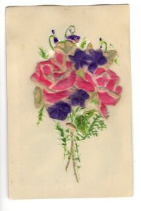 Hand Painted Embossed Cloth on  Plastic, Layered