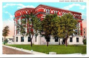 Oklahoma Okmulgee Court House Curteich