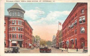 19616 VT St. Johnsbury, Railroad Street, North from station