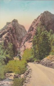 Colorado Colorado Springs The Pillars Of Hercules South Cheyenne Canon Albertype