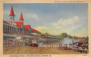 An Exciting Finish at Churchill Downs Louisville, KY , USA Horse Racing Unused