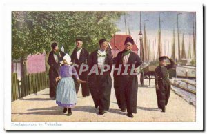 Old Postcard Netherlands Zondagmorgen you Volendam Folklore Costume