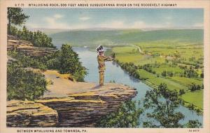Wyalusing Rock 500 Feet Above Susquehanna River On The Roosevelt Highway Betw...