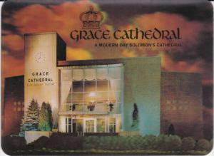 3D Postcard : Grace Cathedral , AKRON , Ohio, 50-60s Version-2