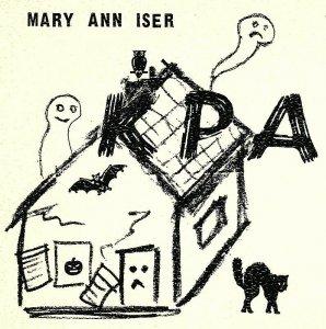 Vintage QSL Postcard  KPA 5117 San Leandro, California  Mary Ann Iser   -T-