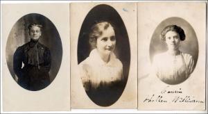 3 - RPPC, Women Cards