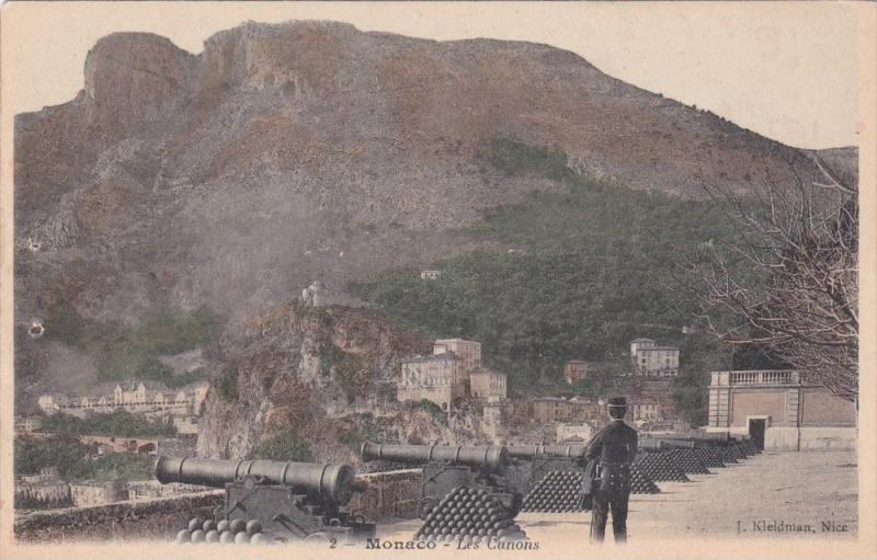 MONACO; Les Canons, View of mountain side town, 00-10s