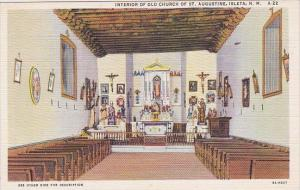 Isleta Interior Of Old Church Of Saint Augustine Isleta New Mexico