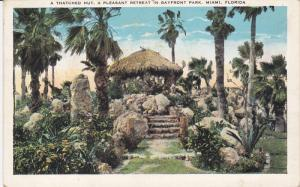 A Thatched Hut, Pleasant Retreat in Bayfront Park, MIAMI, Florida, PU-1932