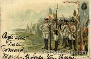 French Relief Troops American History Postcard Post Card  French Relief Troops