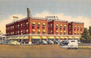 Pecos Texas Hotel Brandon Street View Antique Postcard K46942