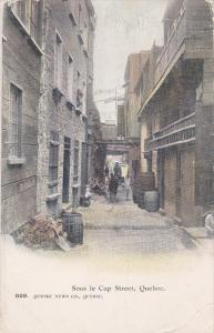 QUEBEC, Canada, PU-1905; Sous Le Cap Street, Horse Carriage