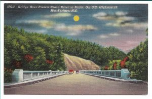 Hot Springs, NC - Bridge over French Broad River at Night