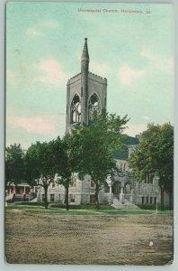 Hoopeston Illinois~Tower Points Up To God~Unitarian Universalist Church~c1910 PC