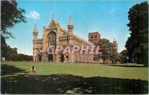 Modern Postcard West Front St Albans Abbey